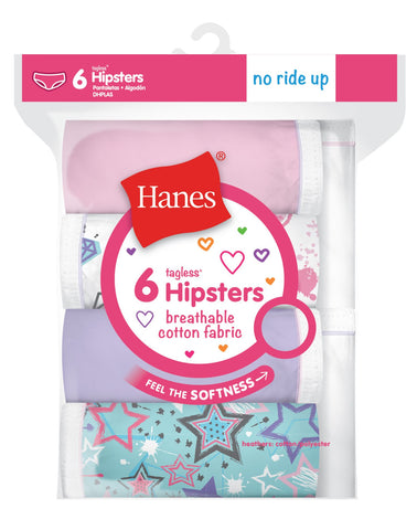 Hanes Girls Breathable Cotton Hipsters 6-Pack