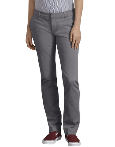 Dickies Womens Perfect Shape Straight Leg Twill Pants