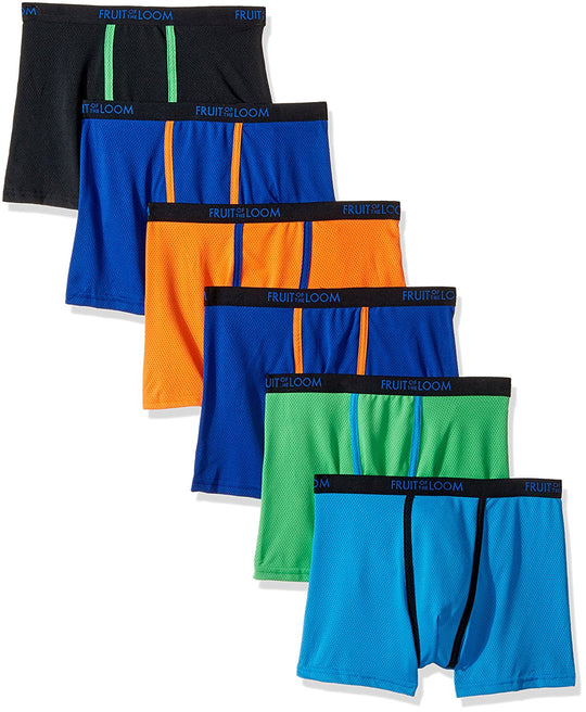Fruit of the Loom Boys 5 Pack Breathable Boxer Brief Underwear