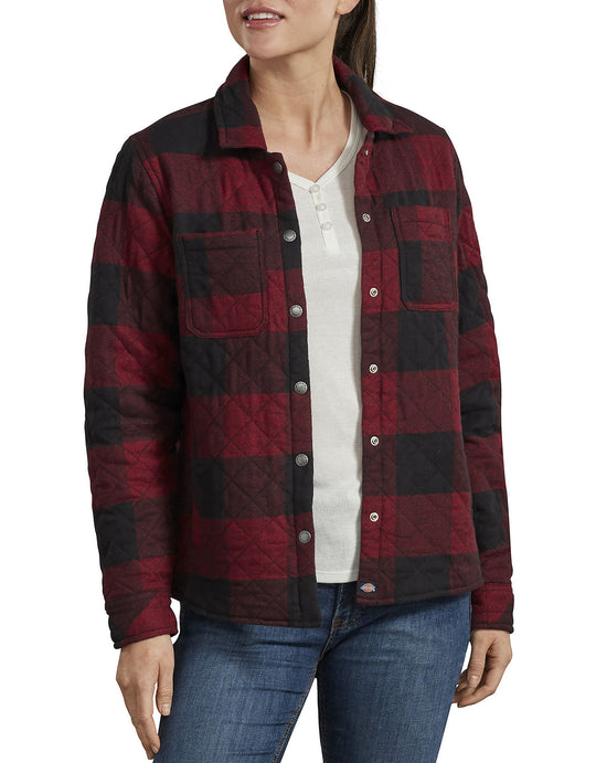 Dickies Womens Quilted Shirt Jacket