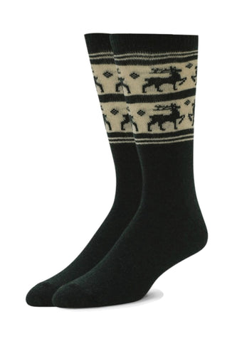Alchester Mens Rudolph Holiday Reindeer Wool Crew Sock
