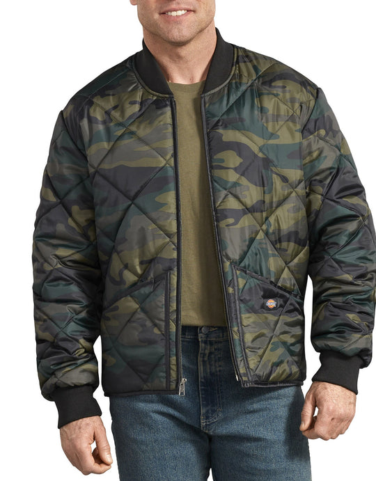 Dickies Mens Camo Diamond Quilted Jacket