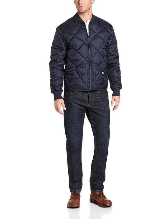 Dickies Mens Water Resistant Diamond Quilted Nylon Jacket