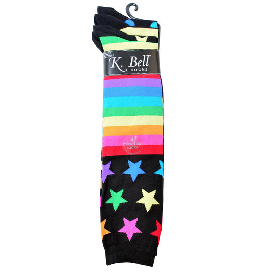 K. Bell Womens Mix It Up 2 Pair Pack Knee High Socks