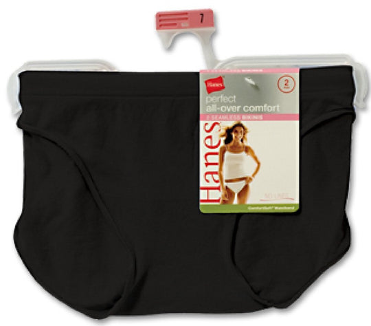 Hanes All-Over Comfort Perfect Mix and Match Bikini 2 Pack White/Nude