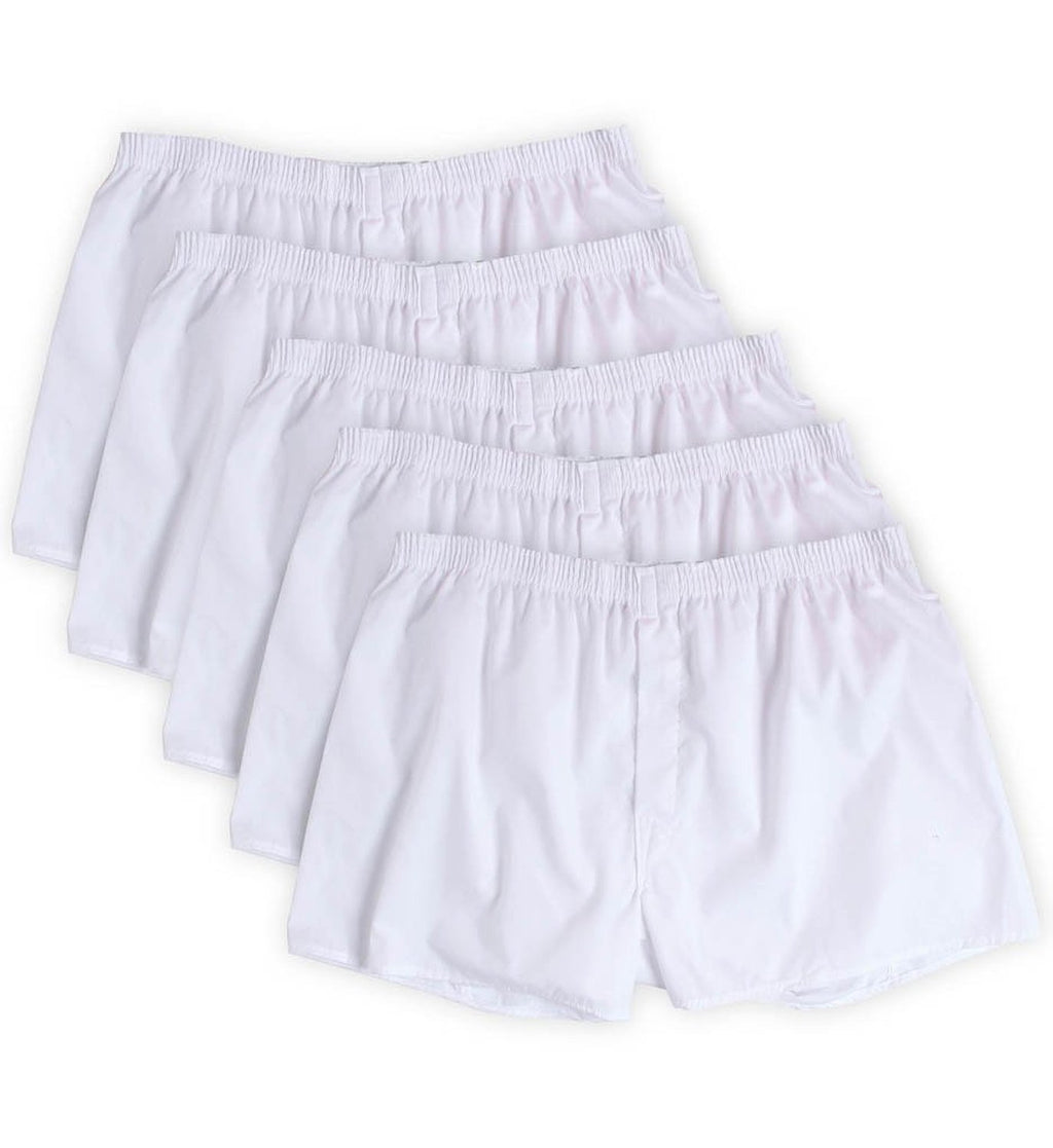 Fruit of the Loom Men`s 5pk White Boxers
