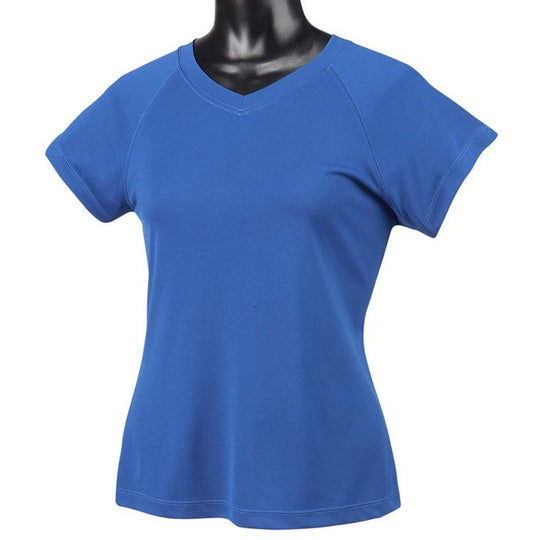 Champion Women's Essential Double Dry V-Neck Tee