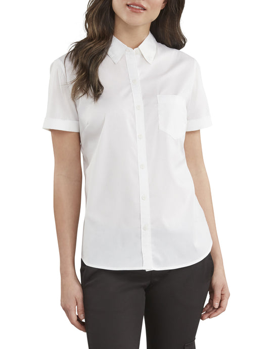 Dickies Womens Stretch Button-Up Shirt