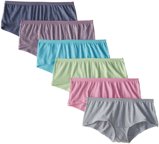 Fruit Of The Loom Womens Assorted Beyondsoft Boy Short - 6 Pack