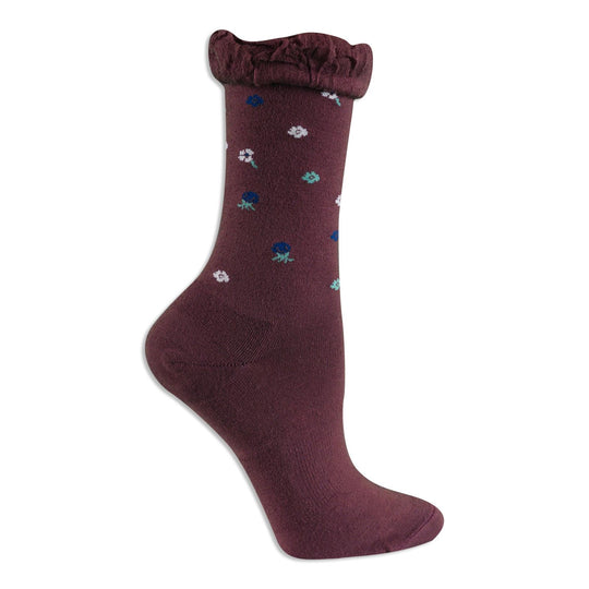 Dr. Scholls Womens Original Collection Casual Floral Crew Socks