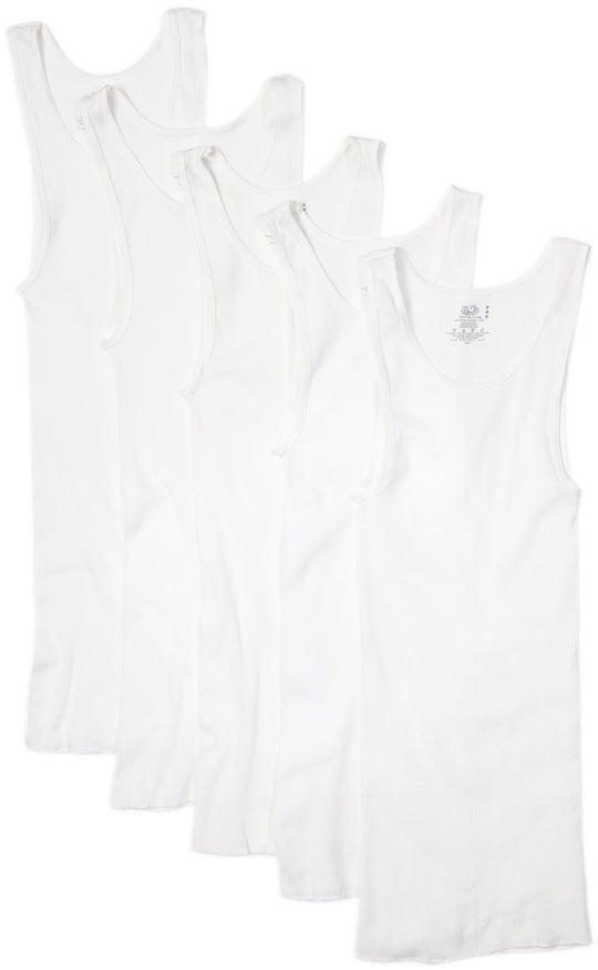 Fruit of the Loom Men`s 5 Pack White A-Shirts - X-Sizes