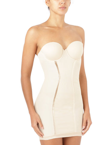 Flexees Easy-Up Strapless Full Slip