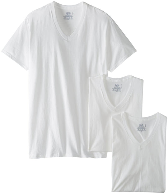 Fruit of the Loom Men`s 3-Pack Tall Size V-Neck T-Shirt
