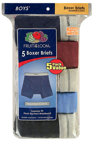 Fruit of the Loom Boys` 5pk Assorted Boxer Brief