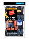 Hanes Men's TAGLESS Striped Ringer Boxer Brief with Comfort Flex Waistband 5-Pack