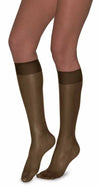 L'eggs Brown Sugar Knee Highs Sandal Toe 2 Pair