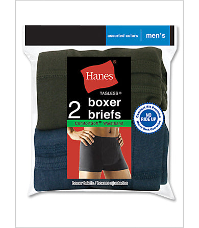 Hanes Men's TAGLESS Boxer Briefs with ComfortSoft Waistband 2-Pack