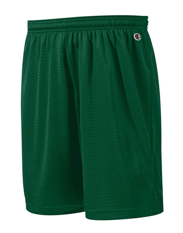 Champion Mens Pocketless Mesh 9 Shorts