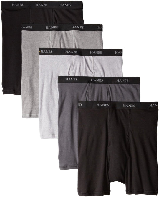 Hanes Men's Classics Boxer Briefs With Comfort Flex Waistband 5-Pack