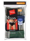 Hanes Men's TAGLESS No Ride Up Fashion Briefs with ComfortFlex Waistband 6-Pack