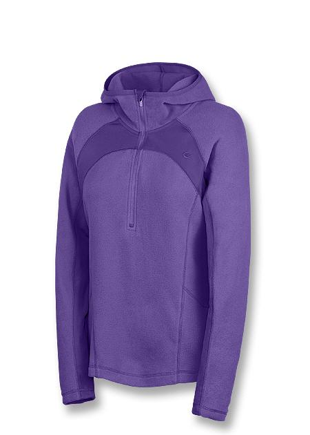 Champion Double Dry Micro-Tech Fleece Quarter-Zip Women's Hoodie