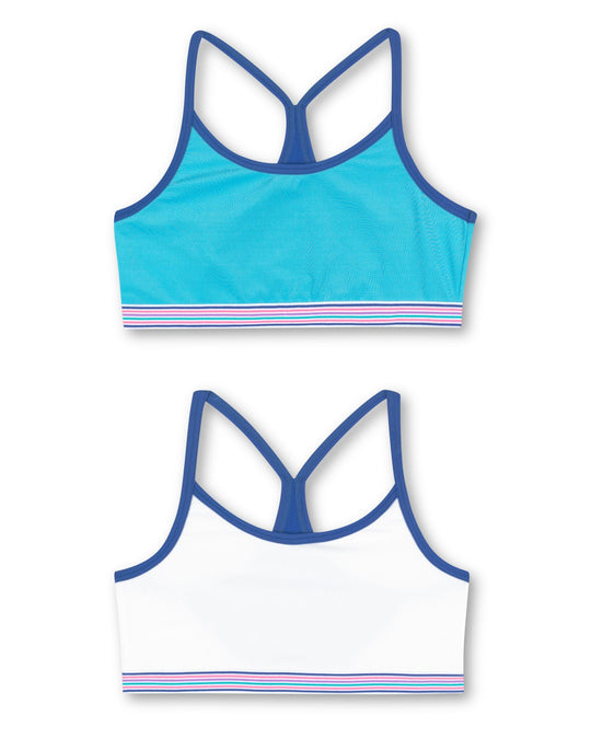 Hanes ComfortFlex Fit Layered Cami Racerback Wirefree Bra 2 Pack