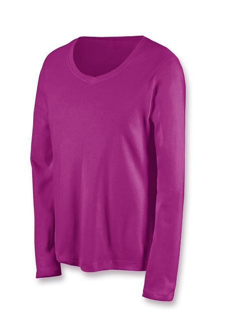 Champion Favorite Long-Sleeve Mini-Ribbed Cotton Women's T Shirt