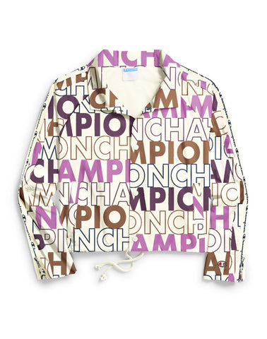 Champion Life Womens Zipper Tape Cropped Coaches Jacket