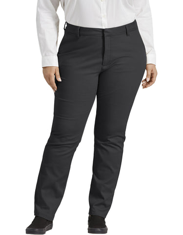 Dickies Womens Plus Size Perfect Shape Bootcut Twill Pants