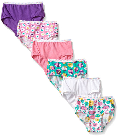 Fruit of the Loom Toddler Girls` 6-Pack Wardrobe Assorted Brief