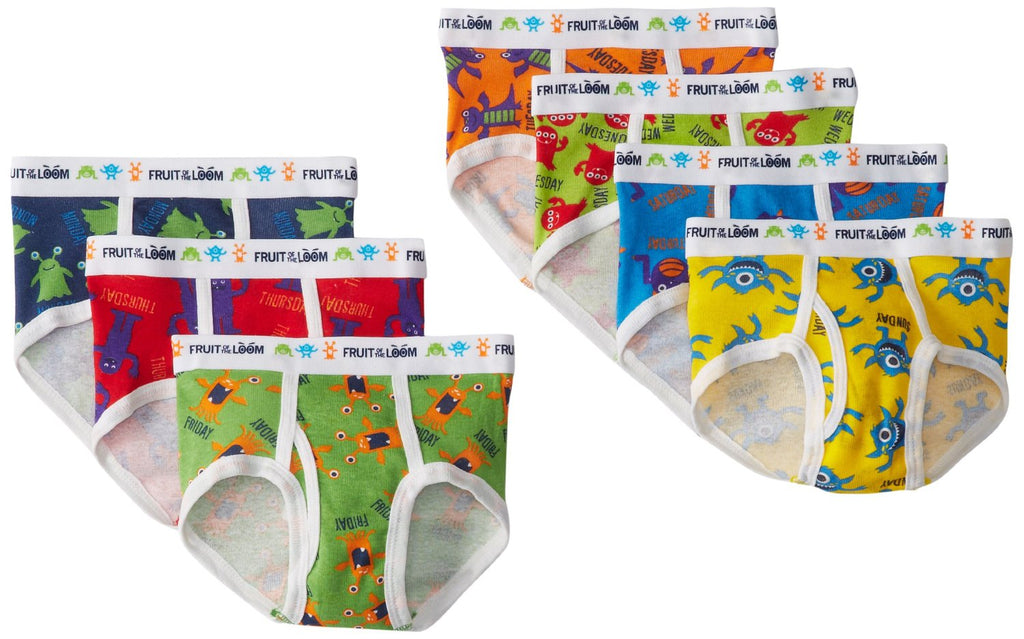 Fruit of the Loom Toddler Boys` 7-Pack Days of the Week Briefs