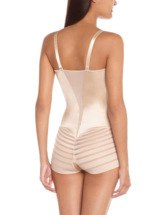 Flexees Women`s Sleek Stripes WYOB Romper