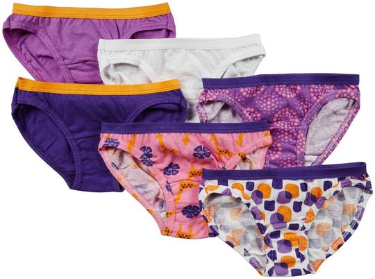 Fruit of the Loom Girls` 6-Pack Wardrobe Assorted Bikini