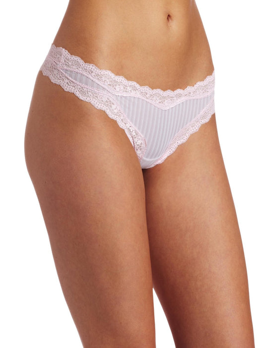 Barely There Women's Go Girlie Flirt Textured Microfiber Thong