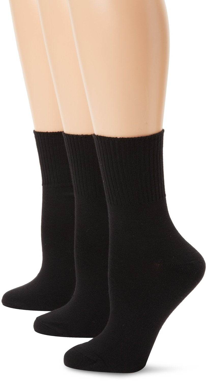 Hanes ComfortSoft® Women`s Cuff Socks Extended Sizes