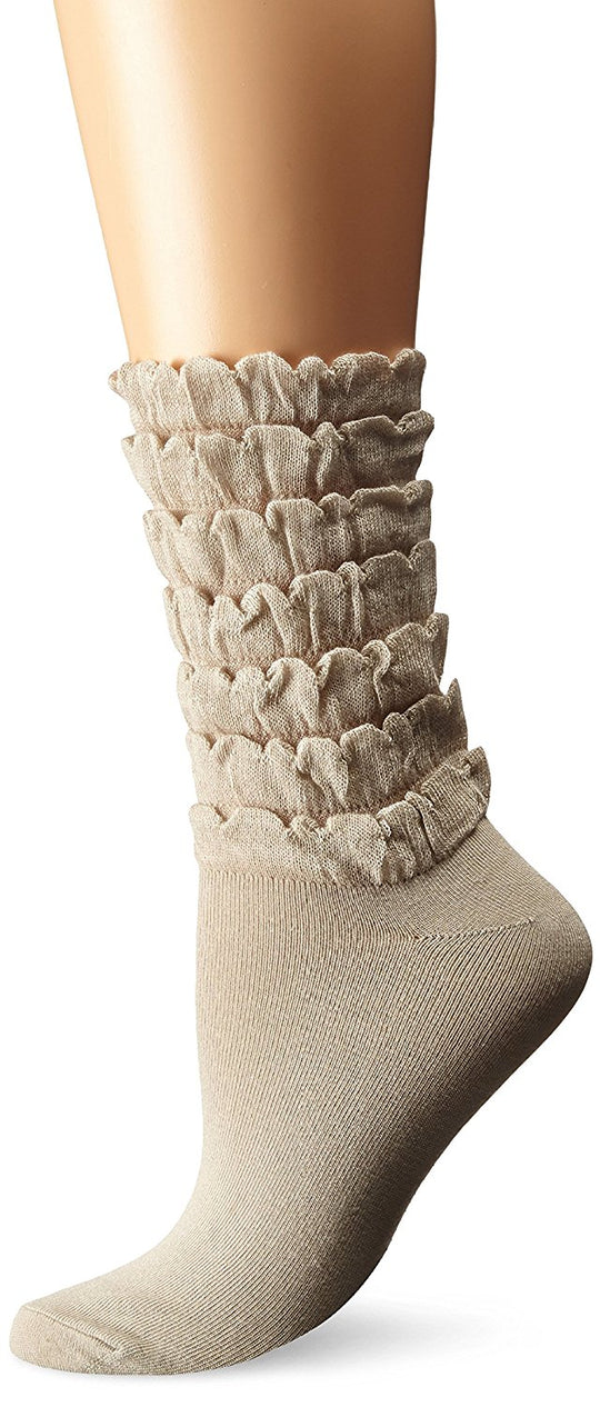 K. Bell Womens Mini Ruffles Crew Socks