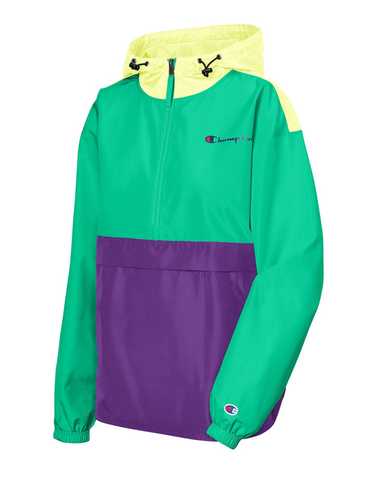 Champion Womens Packable Colorblocked Jacket