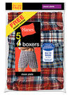 Hanes Men's TAGLESS Tartan Boxers with Comfort Flex Waistband 5-Pack