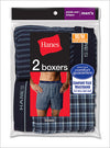 Hanes Mens Red Label Exposed Elastic Waistband Boxers 2 Pack
