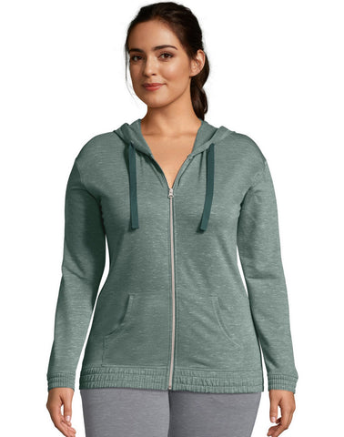 Hanes Womens French Terry Full Zip Hoodie