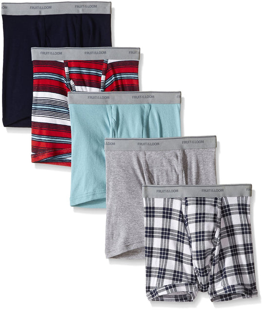 Fruit of the Loom Men`s Assorted Short Leg Boxer Brief