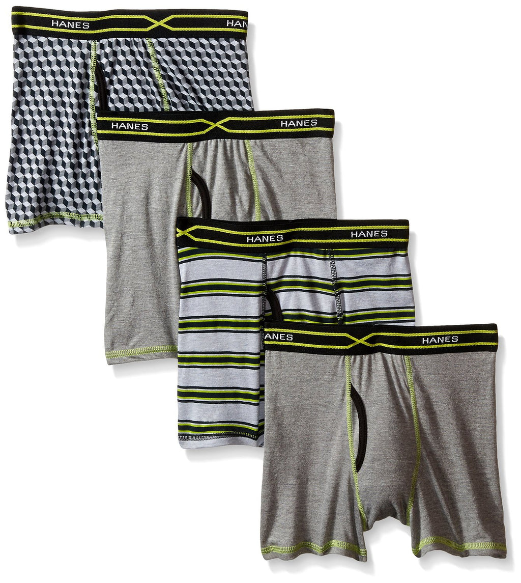 Hanes Boys` X-Temp 4-Pack Boxer Briefs with Comfort Flex Waistband