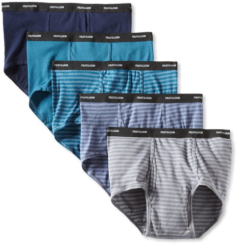 Fruit of the Loom Men`s 5-Pack Stripes/Solids Fashion Briefs - X-sizes