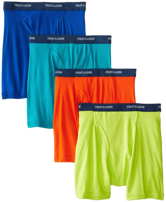 Fruit of the Loom Low Rise Men`s 4-Pack Assorted Boxer Briefs
