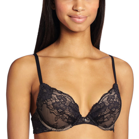 Maidenform Women`s Comfort Devotion Embellished Plunge Push Up Bra