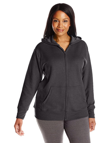 Just My Size Women`s ComfortSoft EcoSmart Fleece Full-Zip Hoodie