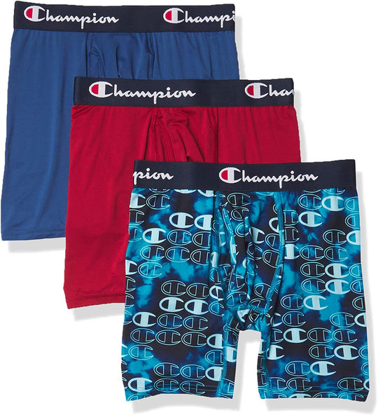 Champion Mens Athletics Everyday Active Lightweight Breathable Boxer Brief, L
