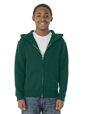 Jerzees Youth NuBlend Full Zip Hooded Sweatshirt
