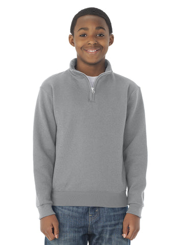 Jerzees Youth NuBlend Quarter Zip Cadet Collar Sweatshirt