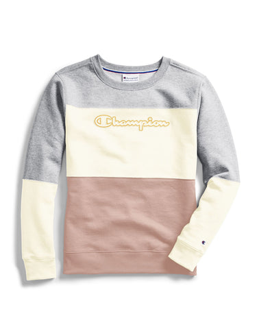 Champion Womens Powerblend Colorblock Crew